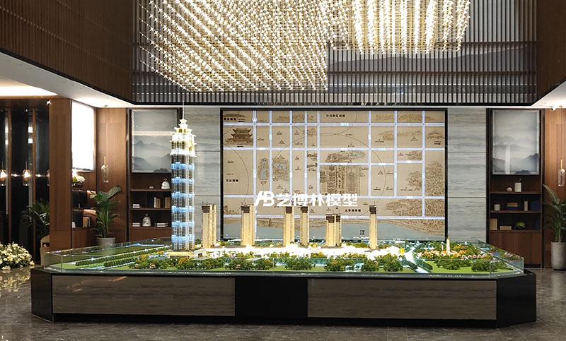 中建荆州之星,写实制作沙盘模型现代与古典相结合,尽显高端大气